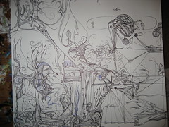 Propulsion. (tsitrAinside) Tags: life travel blackandwhite art colors lines illustration pen fun thought artist photos patterns symmetry prints symmetrical organic trippy edition hdr penandink bic limite linework tsitra threyda tsitrainside