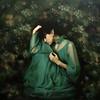 sad queen ... (martikson) Tags: light portrait woman flower green girl self sad dress palm queen topseven martikson —obramaestra—