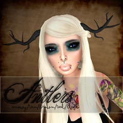 ..::Relentless Couture::.. ANTLERS ad ([MaiMai]) Tags: life cute shop glitter photoshop store pretty avatar ad tattoos antlers sl mai secondlife lamb piercings voltaire tatts cisse serpente
