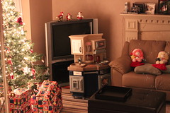 Living Room During Christmas