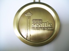 Seattle Marathon 2009 finisher medal