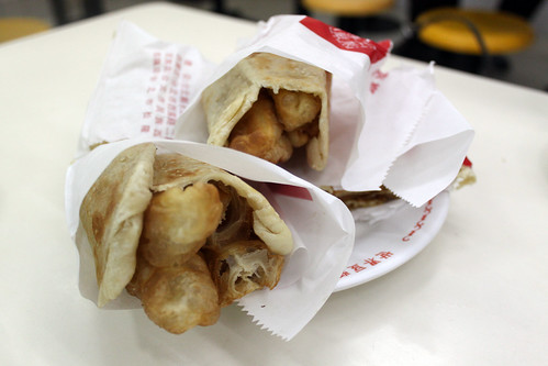 You tiao wrapped with more fried bread