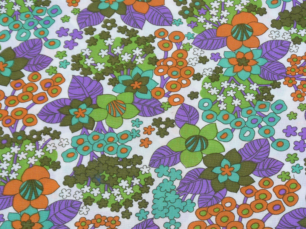 Vintage funky fabric