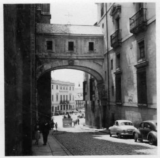 Arco de Palacio (Toledo) en los años cincuenta
