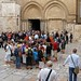 Pilgrims and tourists gather in front of Church of the Holy Sepulchre (Seetheholyland.net)