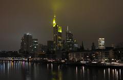 Frankfurt Skyline (Specialized29) Tags: street city longexposure skyline night skyscraper deutschland lights nikon hessen frankfurt main sigma stadt nightlife beleuchtung commerzbank bankenviertel hochhaus wolkenkratzer ffm stativ 2870 d300s nightfotography