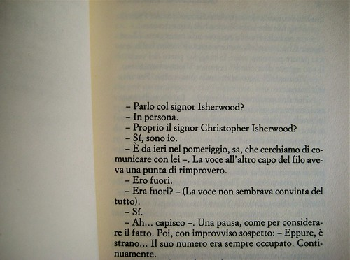 Christopher Isherwood, La violetta del Prater, Einaudi 1988, p. 3 (part.)