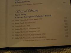Celebrity Solstice Wine Menu