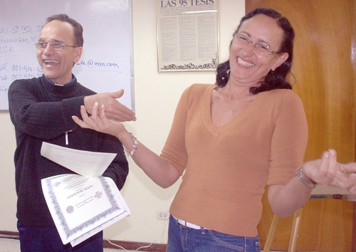 Pastor Novelli and Luz Maria