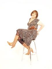my favourate dress 04# (Kirsty_Evans) Tags: dress cd tgirl polkadots tranny transvestite crossdresser kneehighboots yummymummy transfemme kirstyevans