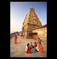 Merry go round (Light and Life -Murali ) Tags: girls india tower architecture kids temple happy ancient warm god joy running run cheers karnataka belur sadu halebidu compose explored saadu img1694p1sc