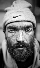 Paulo (David Olkarny Photography) Tags: street brussels portrait bw hairy canon eyes belgium emotion availablelight homeless bruxelles 50mm14 sharpen dailypicture fullframe davidolkarny