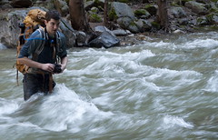 David fording the river Photo