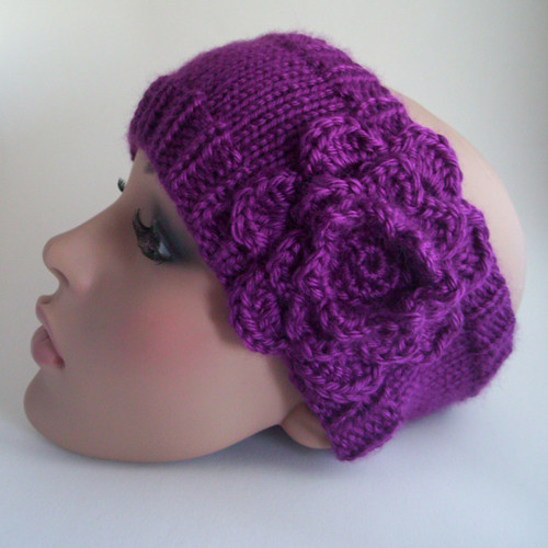 Knitted Headband Patterns With Flower : KNITTING PATTERNS HEADBAND FREE PATTERNS