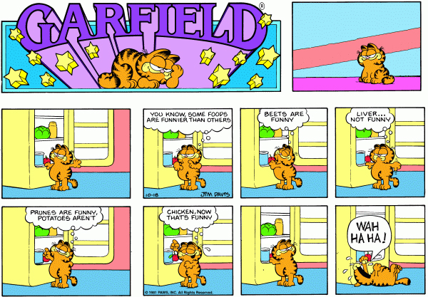 Garfield Minus Arbuckle, October 18, 1981