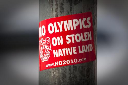 Pas de jeux olympiques sur une terre volée