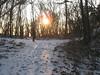 Il sole che filtra anche d'inverno