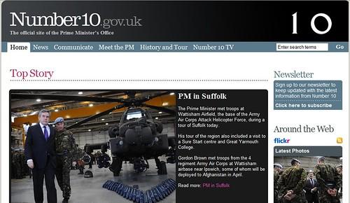 Number10.gov.uk - Social Media Newsroom