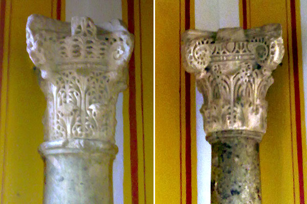 Capiteles de avispero califales en Sevilla
