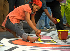 Artist in action... ( ) () Tags: 21 21st dhaka feb minar shahid 21stfeb      dhakashahidminar