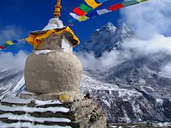 Ama Dablam-Dingboche-Everest Base Camp Trek-Nepal (mikemellinger) Tags: nepal camp mountain snow ice nature beauty trekking trek landscape nationalpark scenery hiking hike region khumbu everest range base himalayas amadablam gompa sagarmatha dingboche