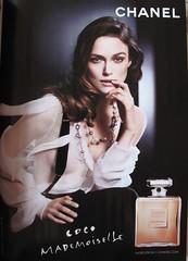 Publicité Coco Mademoiselle, Version américaine, in Vogue, février 2010