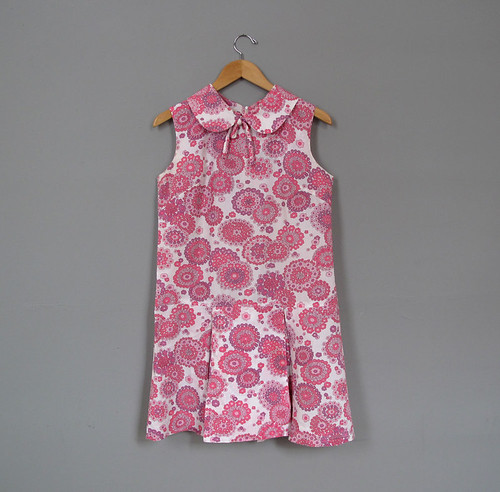vintage liberty print drop waist dress