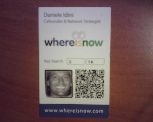 Biglietto da visita di Daniele col suo splendido sorriso Durbans