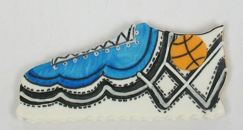 [Image from Flickr]:Basketball Shoe Cookie