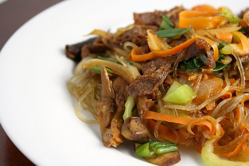 Japchae with Bulgogi