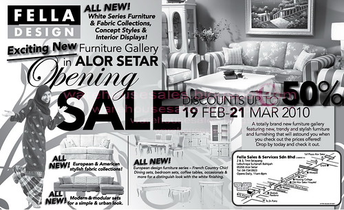 19 Feb - 21 Mar: Fella Design Opening Sale @ Alor Setar