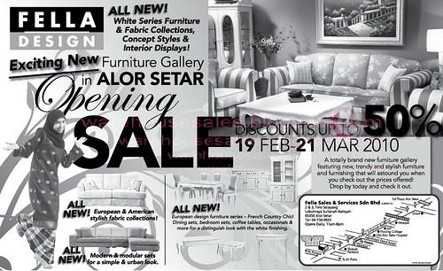 19 Feb - 21 Mar: Fella Design Opening Sale @ Alor Setar