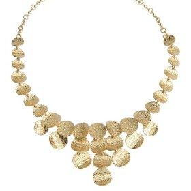 Amazon gold circles bib necklace