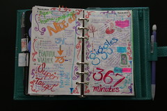 DIY Planner March 8-14, 2010 (jadecat23) Tags: watercolor filofax diyplanner calendarart