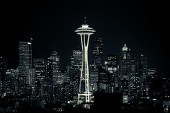 112. Francis (prenetic) Tags: seattle city tourism night buildings lights view queenanne hill kerry spaceneedle kerrypark overlook vantagepoint