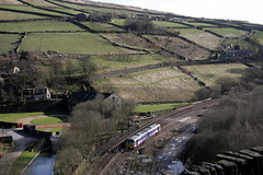 20100327_Northern Rail. Tunnel End Standege. (Barrytaxi) Tags: yorkshire tunnel class 142 huddersfield marsden colnevalley northernrail standedge