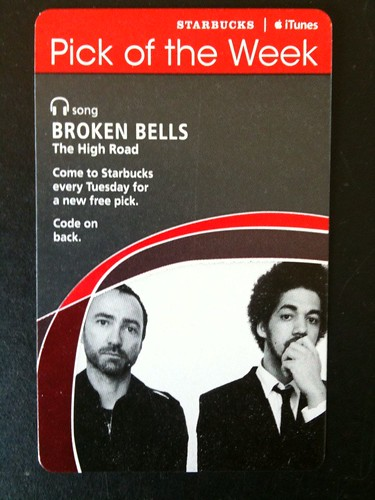Starbucks iTunes Pick of the Week - Broken Bells - The High Road #fb