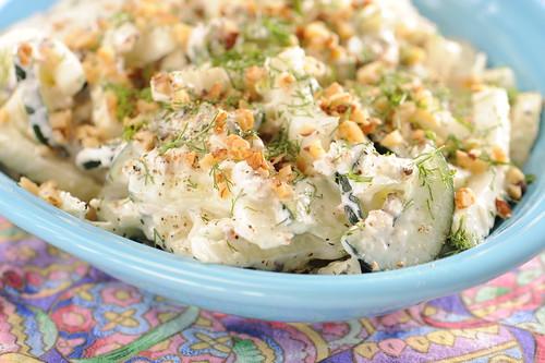 Cucumber Fennel Tzatziki Salad