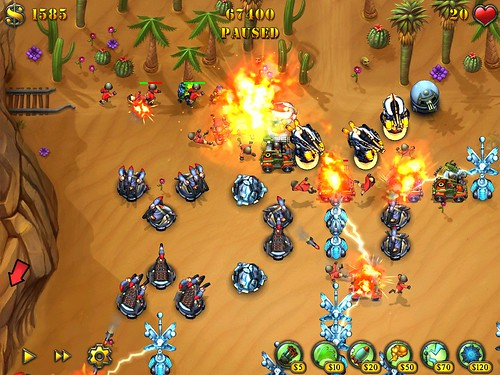 Screenshot Fieldrunners Drylands iPad