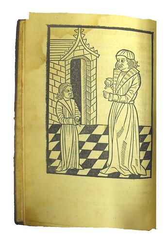 Woodcut in Facetus. Liber Faceti docens mores hominum