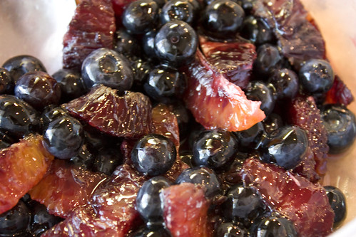Blueberry Blood Orange in Caramel Sauce