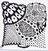 Black Pearl ~Official Zentangle Tile~ Traded (Rose Twofeather) Tags: tile zentangle