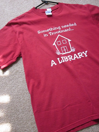 goodwill find: library shirt