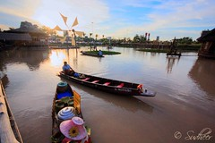 Floating Market (Sudheer S) Tags: sunset thailand hdr floatingmarket pattaya photomatix tonemapping sigma1020mmexdchsm pattayafloatingmarket
