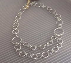 Sterling Silver Chain Necklace (K-J Designs) Tags: necklace handmade shell pearls ring bracelet hematite artisan garnet gemstones motherofpearl moonstone smokeyquartz sterlingsilver earthenergies perdiot swavorskycrystals
