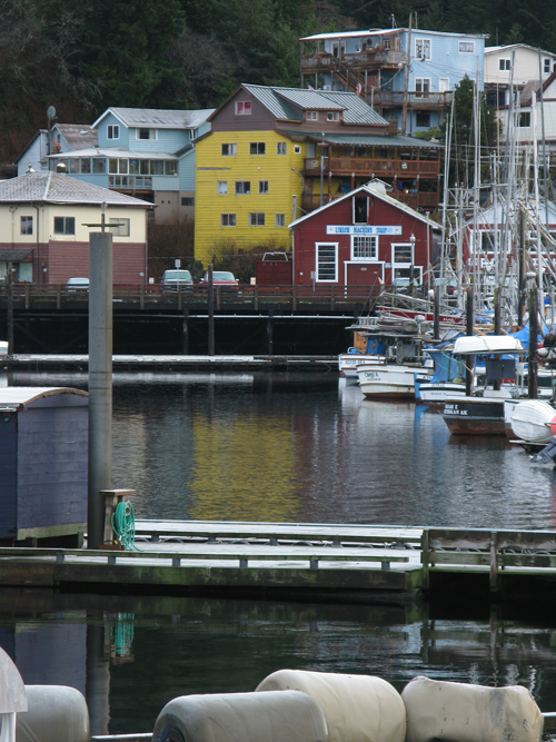 reflections, boats, houses, and more at Thomas Basin, Ketchikan, Alaska