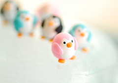 Penguins of JooJoo Land ({JooJoo}) Tags: pink cute art penguin miniature crafts small polymerclay clay tiny iceberg etsy southpole blueblack joojoo afsanehtajvidi