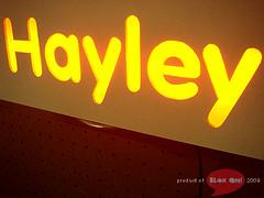 """hayley"" lightblok (thesyemism) Tags: wood signs sign matt glow interior crafts fixtures handcrafted crafty custom deco signboard lightbox mdf minilights blokon signbox lightblok signlamp lampboxhandmade"
