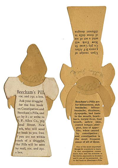 Beecham's Pills paper doll_bk_tatteredandlost