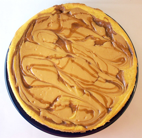 Swirled Caramel and Pumpkin Cheesecake Supreme